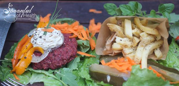 Best Veggie Burger (paleo, bean, nut, soy, grain, egg, dairy & gluten free}