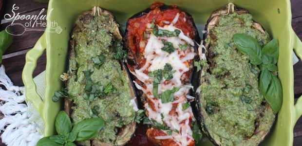 Pesto Eggplant Made-Over {paleo, dairy, gluten, free}
