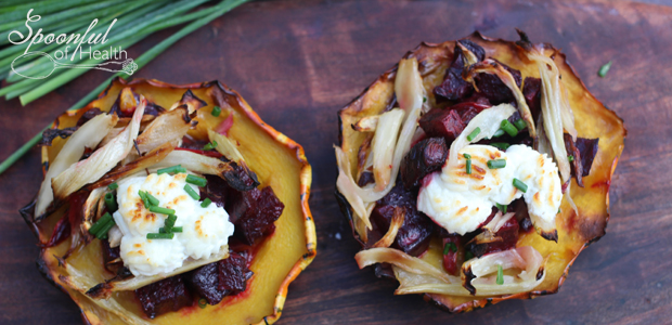 Acorn Squash with Beets & Fennel {paleo, vegan, dairy free}