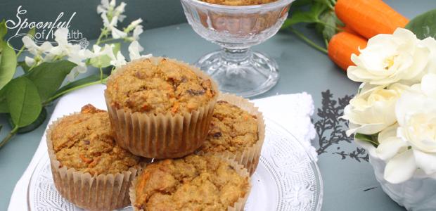 Carrot Spice Muffins {paleo, dairy, refined sugar,nut & gluten free}