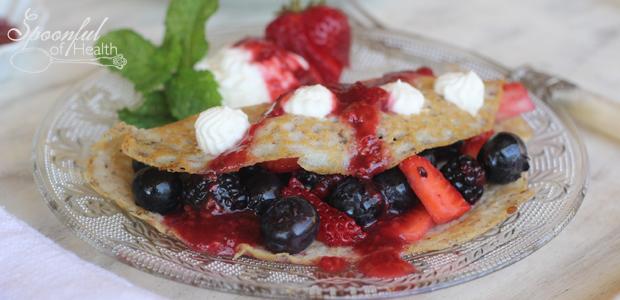 Berry Crêpes {gluten, refined sugar & dairy free}