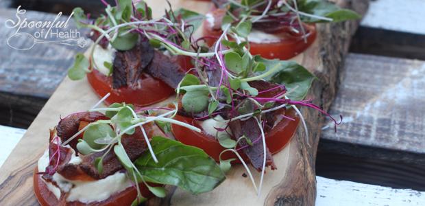 Paleo & Dairy-Free BBLT {Bacon, Basil, Lettuce & Tomato}