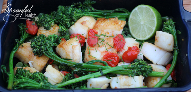 Seared Scallops with Ginger-Lime Cream Sauce {paleo, dairy & gluten free}