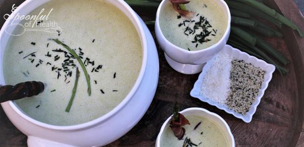 Creamy Coconut Asparagus Soup